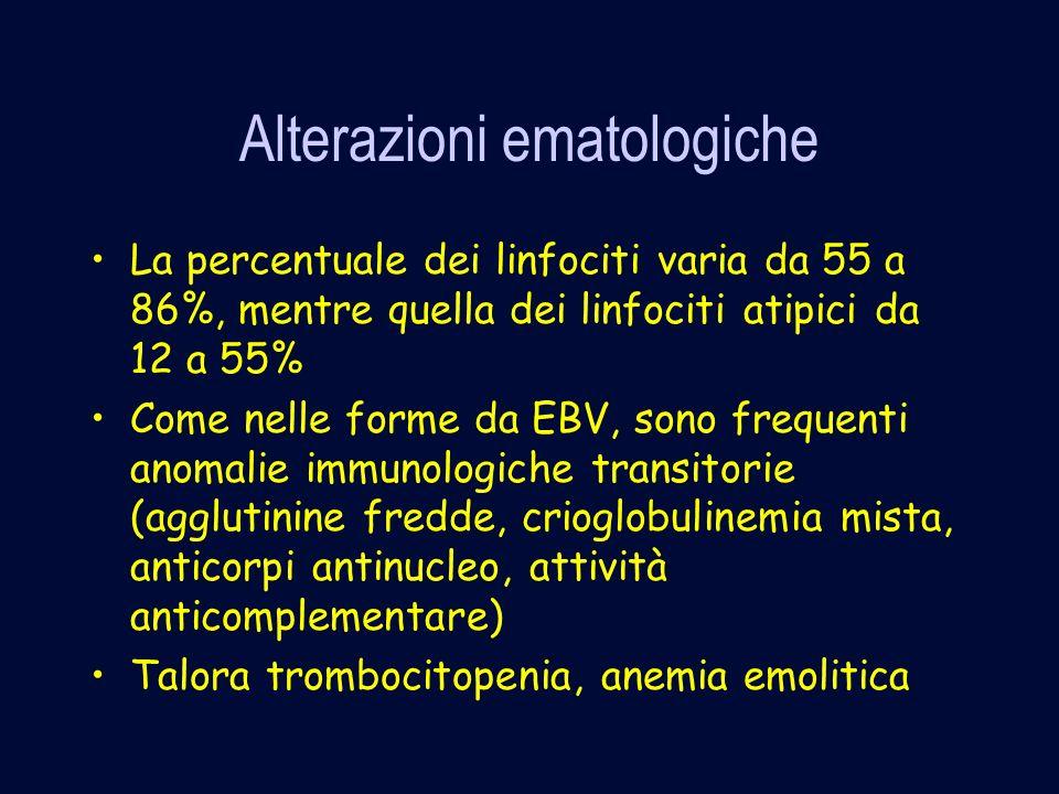 Alterazioni ematologiche