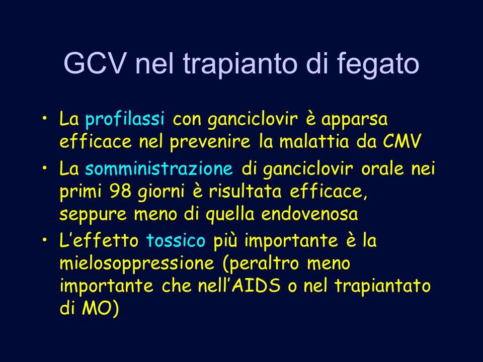 GCV nel trapianto di fegato