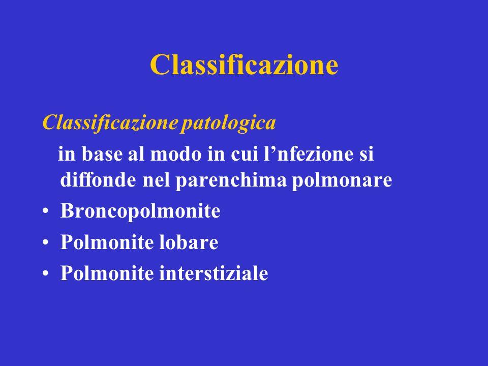 Classificazione Classificazione patologica