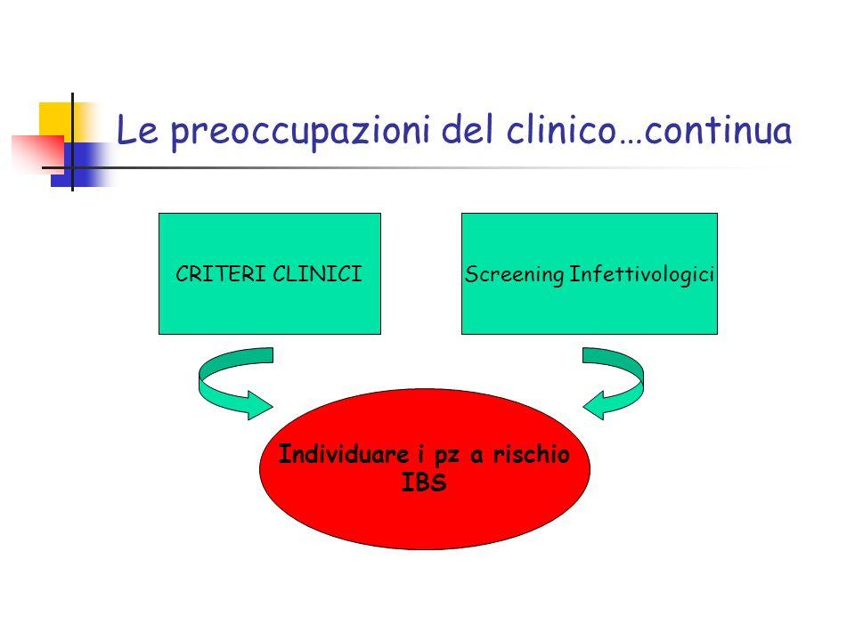Le preoccupazioni del clinico…continua