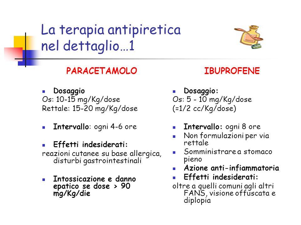 La terapia antipiretica nel dettaglio…1