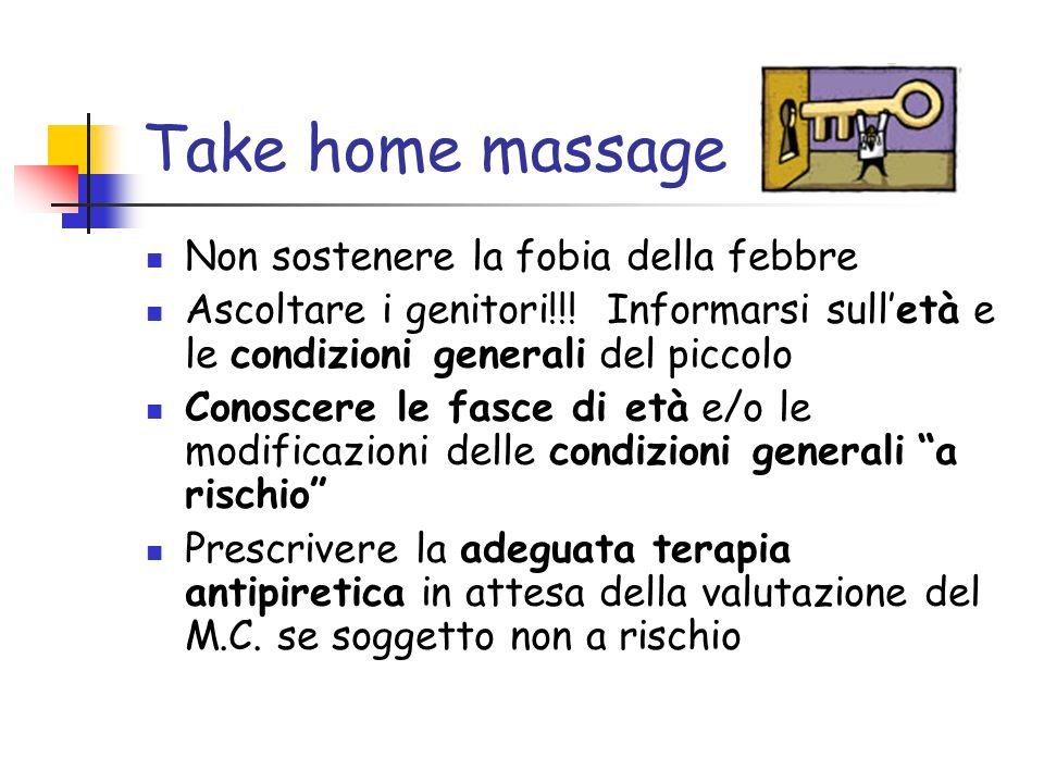 Take home massage Non sostenere la fobia della febbre