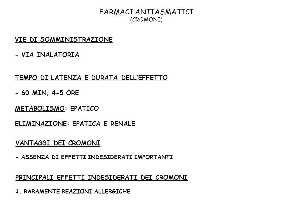 FARMACI ANTIASMATICI (CROMONI)
