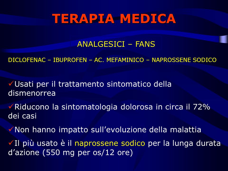 TERAPIA MEDICA ANALGESICI – FANS