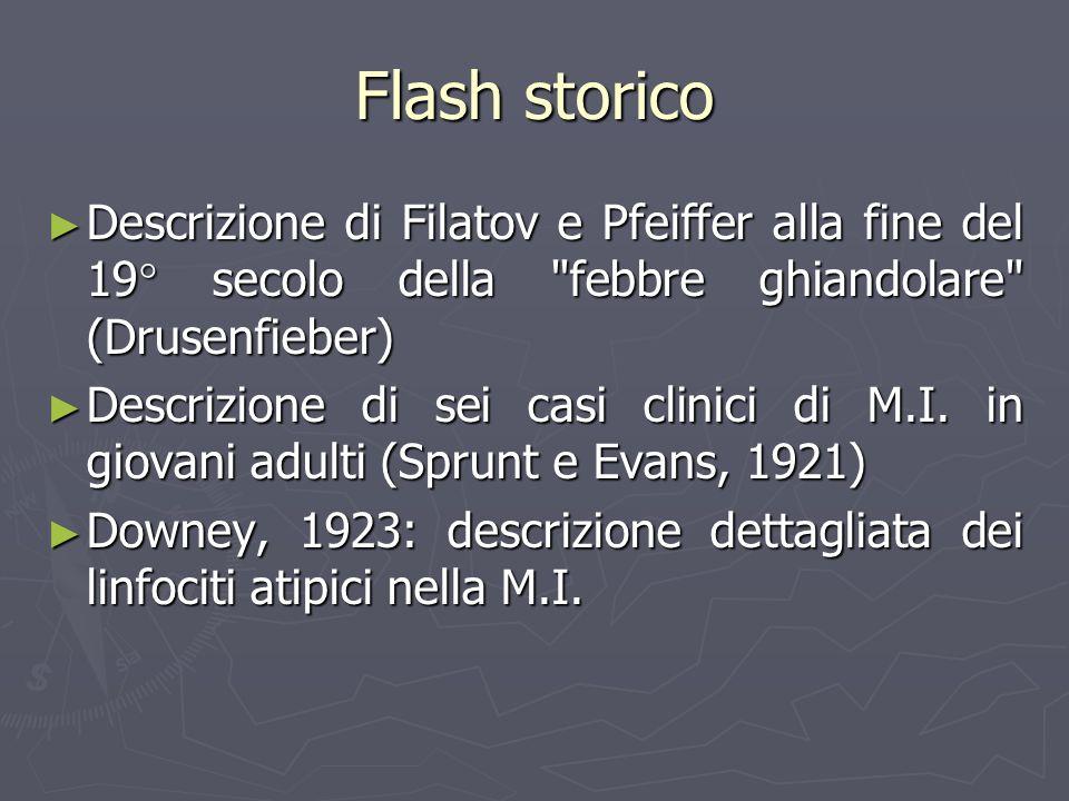 Flash storico Descrizione di Filatov e Pfeiffer alla fine del 19° secolo della febbre ghiandolare (Drusenfieber)