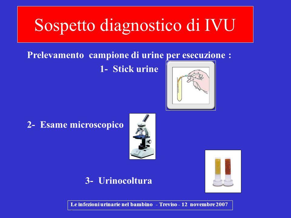 Sospetto diagnostico di IVU