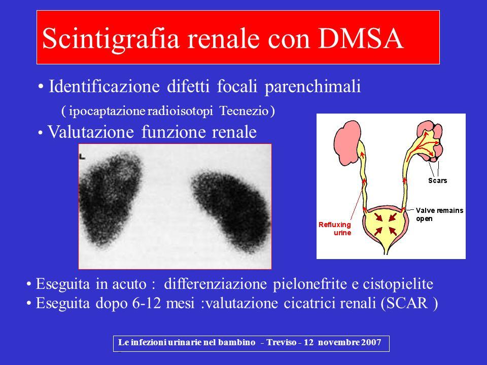 Scintigrafia renale con DMSA