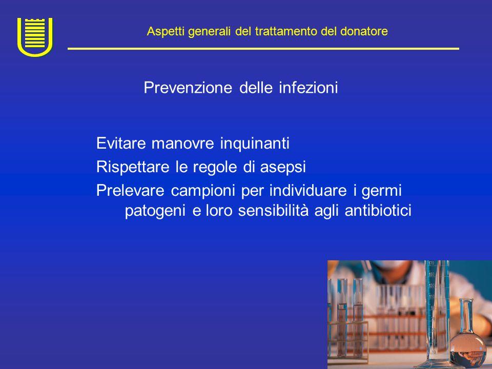 Aspetti generali del trattamento del donatore