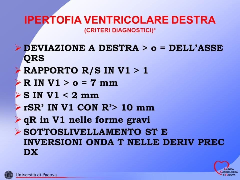 IPERTOFIA VENTRICOLARE DESTRA (CRITERI DIAGNOSTICI)*
