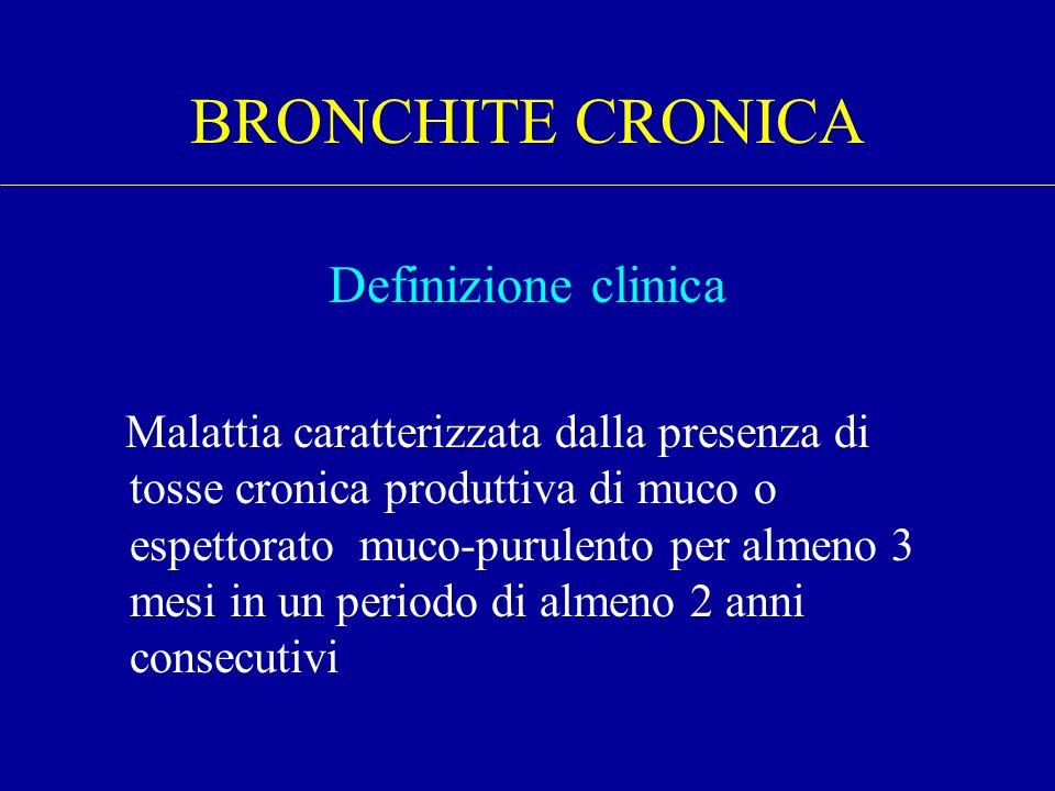 BRONCHITE CRONICA Definizione clinica