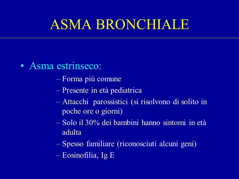 ASMA BRONCHIALE Asma estrinseco: Forma più comune