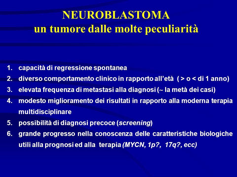 NEUROBLASTOMA un tumore dalle molte peculiarità