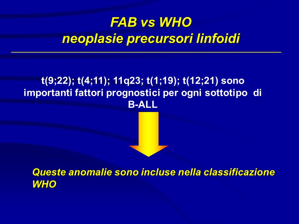 neoplasie precursori linfoidi