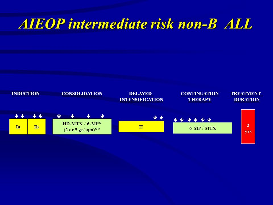 AIEOP intermediate risk non-B ALL