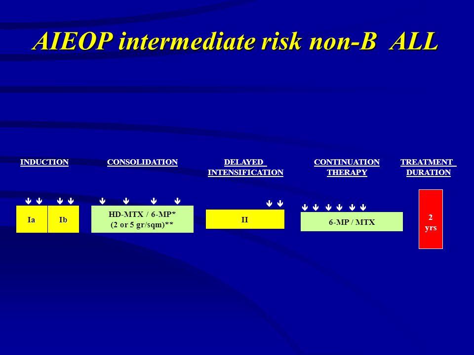 AIEOP intermediate risk non-B ALL