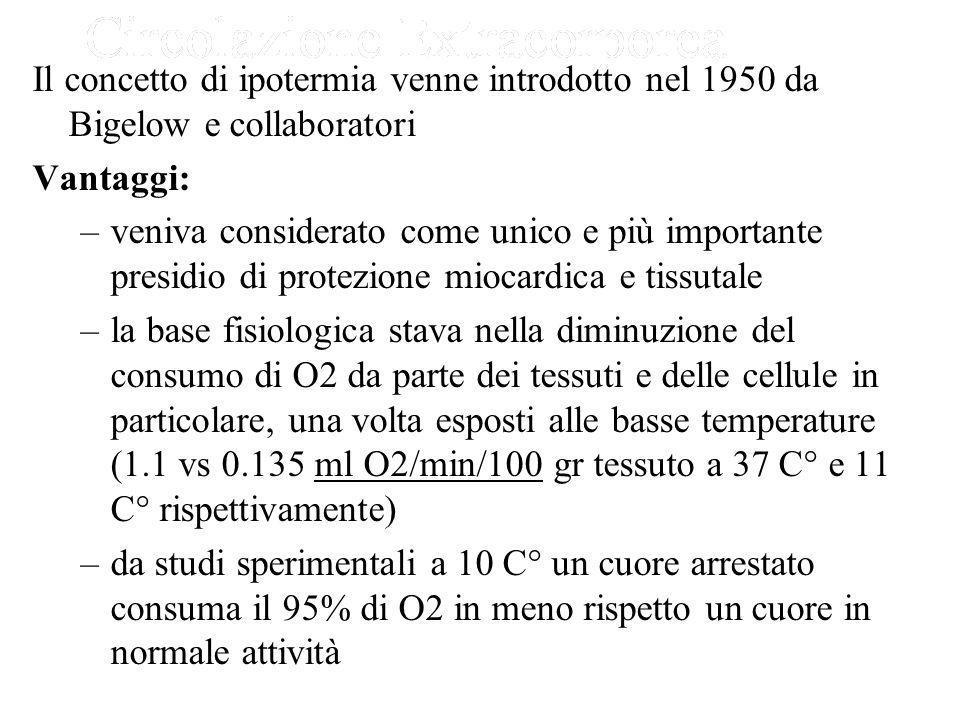 Il concetto di ipotermia venne introdotto nel 1950 da Bigelow e collaboratori
