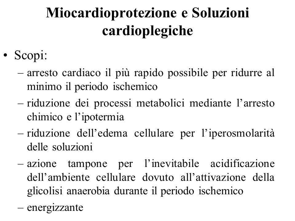 Miocardioprotezione e Soluzioni cardioplegiche