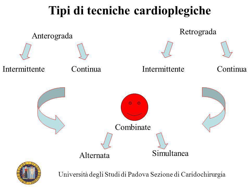 Tipi di tecniche cardioplegiche