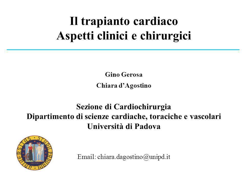 Il trapianto cardiaco Aspetti clinici e chirurgici