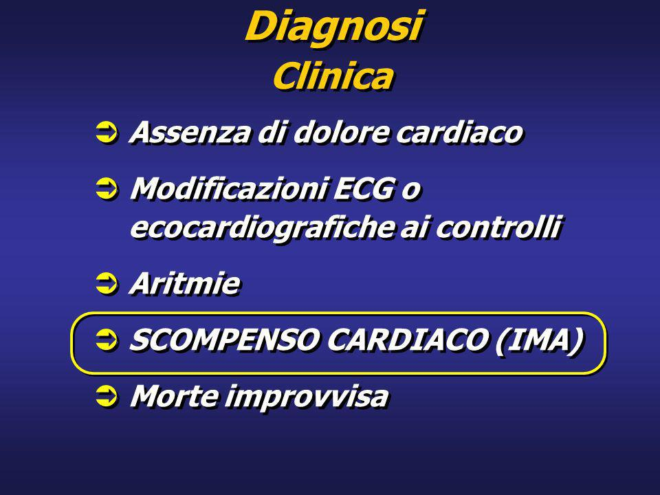 Diagnosi Clinica Assenza di dolore cardiaco