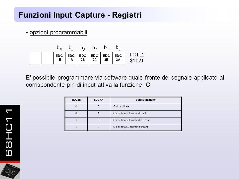 Funzioni Input Capture - Registri