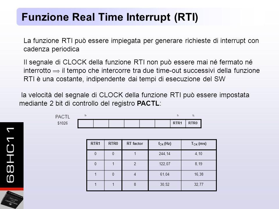 Funzione Real Time Interrupt (RTI)