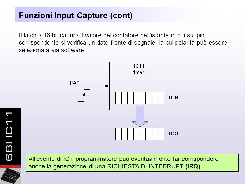 Funzioni Input Capture (cont)