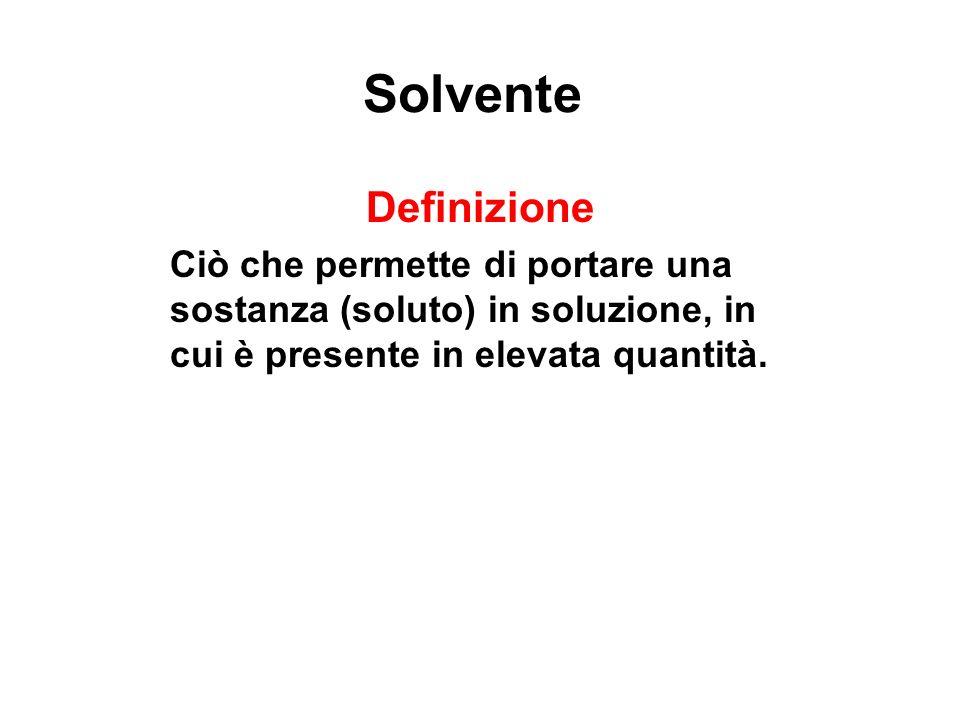 Solvente Definizione.