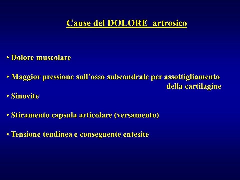 Cause del DOLORE artrosico