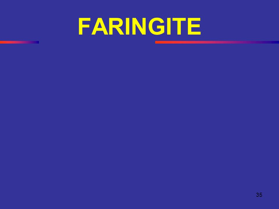 FARINGITE