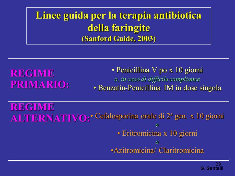 Linee guida per la terapia antibiotica della faringite