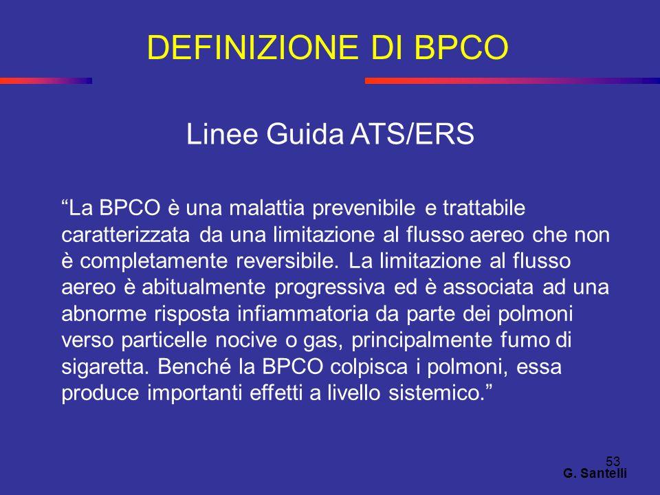 DEFINIZIONE DI BPCO Linee Guida ATS/ERS