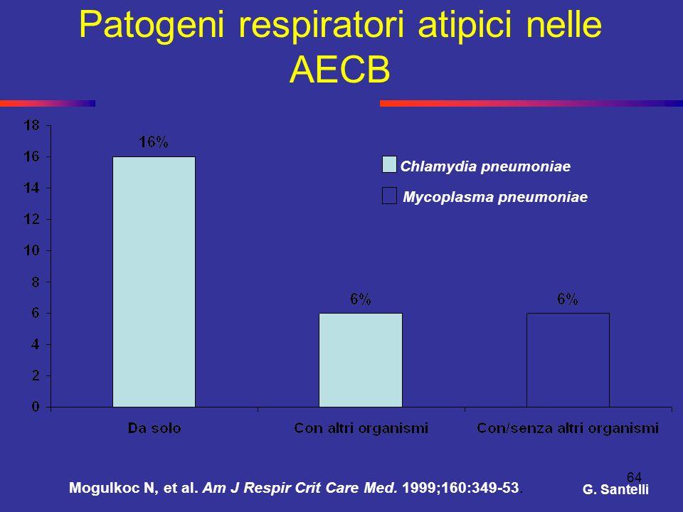 Patogeni respiratori atipici nelle AECB