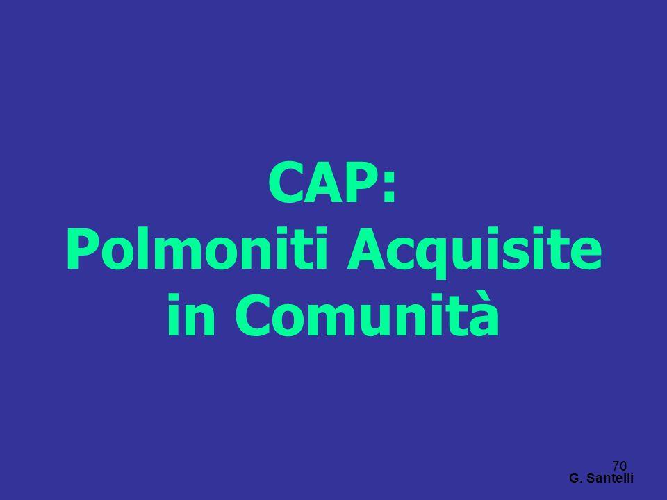 CAP: Polmoniti Acquisite in Comunità