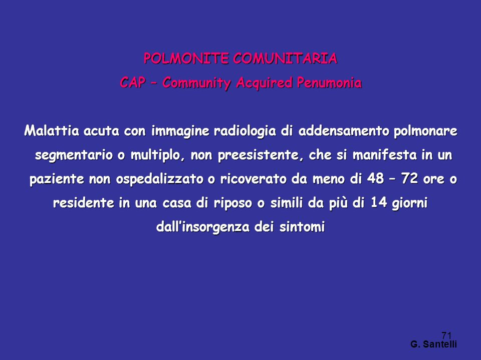 POLMONITE COMUNITARIA CAP – Community Acquired Penumonia