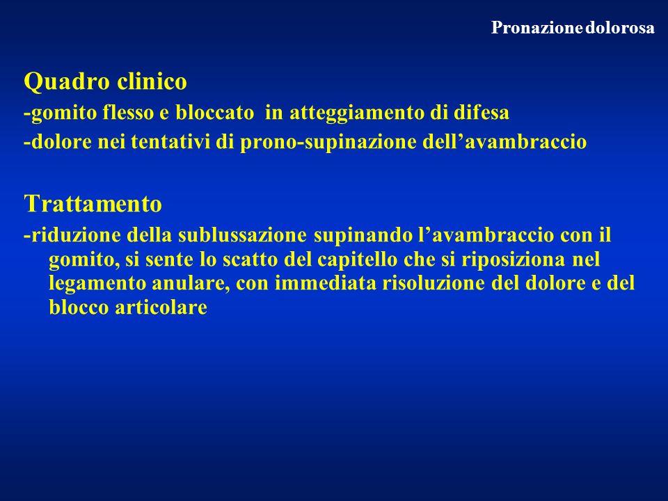 Quadro clinico Trattamento