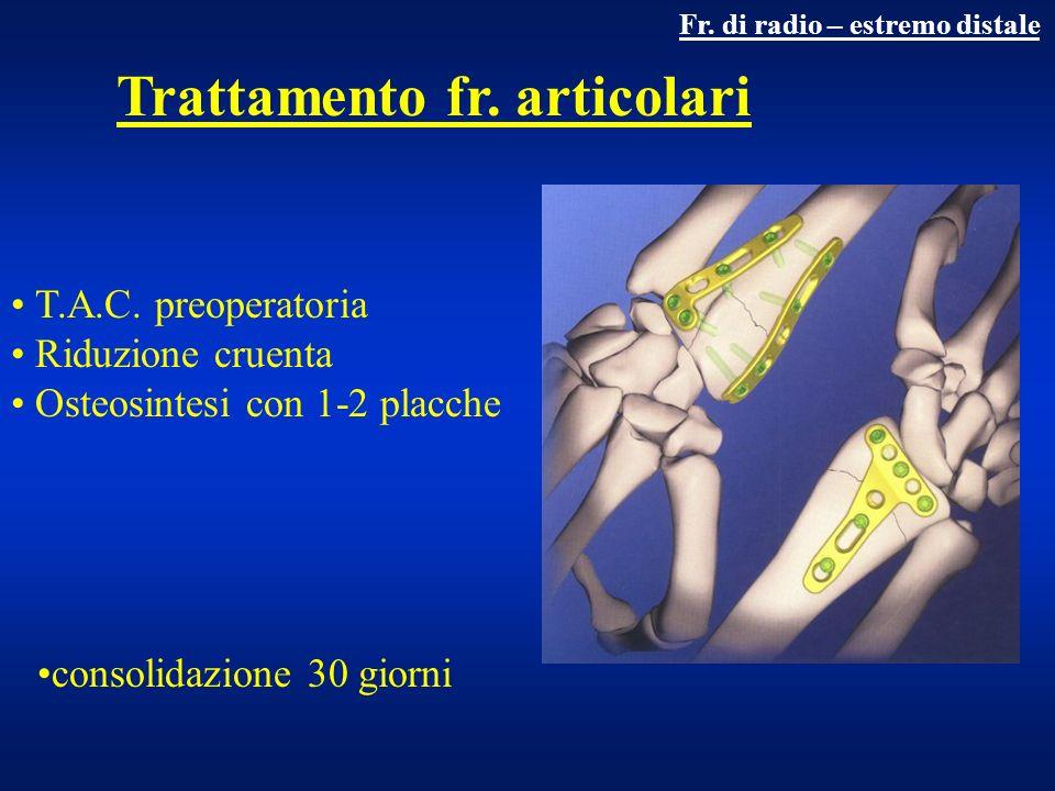 Trattamento fr. articolari
