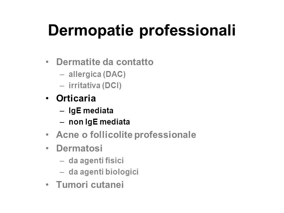 Dermopatie professionali