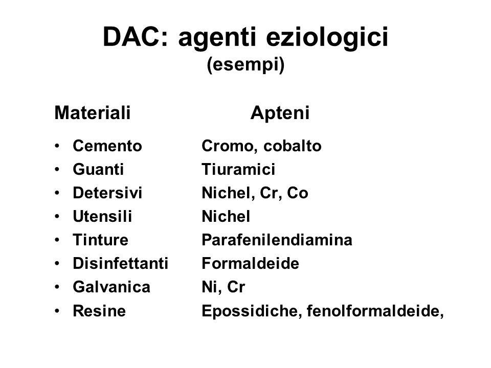 DAC: agenti eziologici (esempi)
