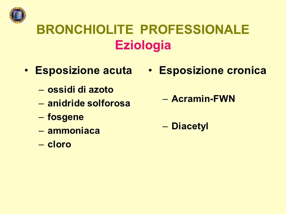 BRONCHIOLITE PROFESSIONALE Eziologia