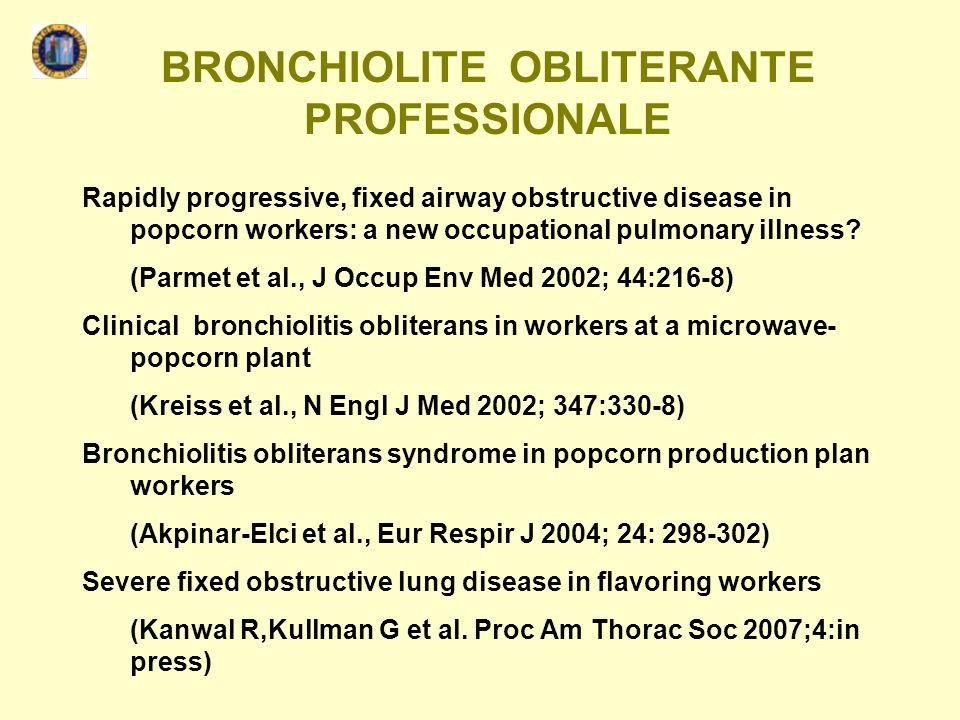 BRONCHIOLITE OBLITERANTE PROFESSIONALE