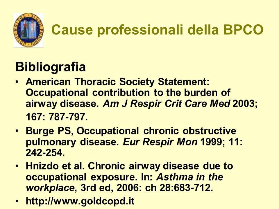 Cause professionali della BPCO
