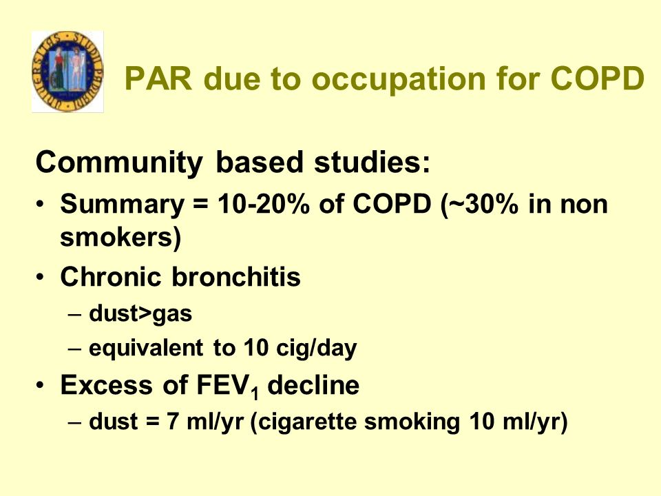 PAR due to occupation for COPD