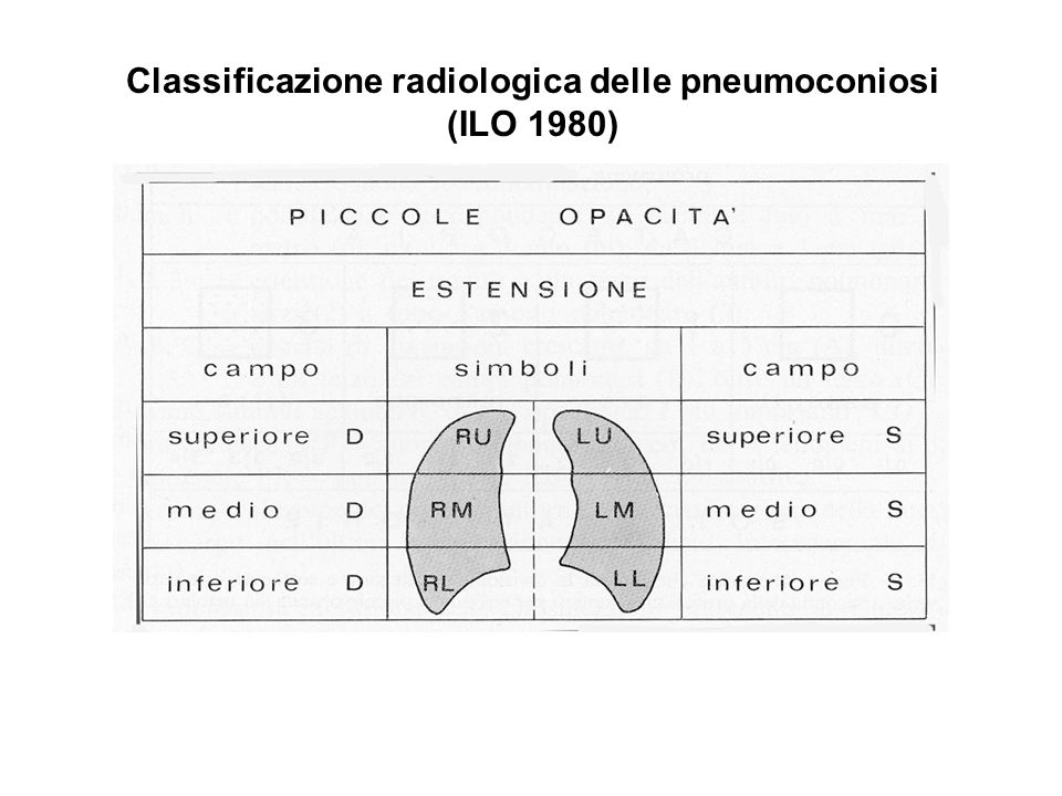 Classificazione radiologica delle pneumoconiosi