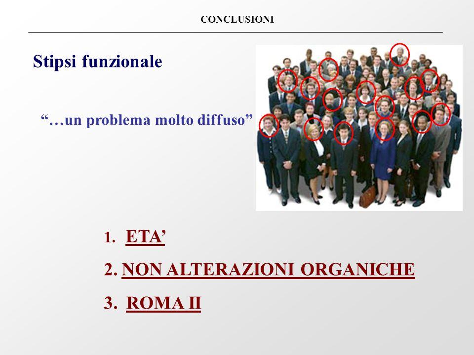 NON ALTERAZIONI ORGANICHE ROMA II