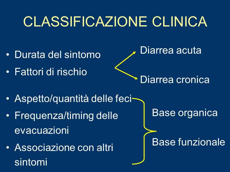 CLASSIFICAZIONE CLINICA