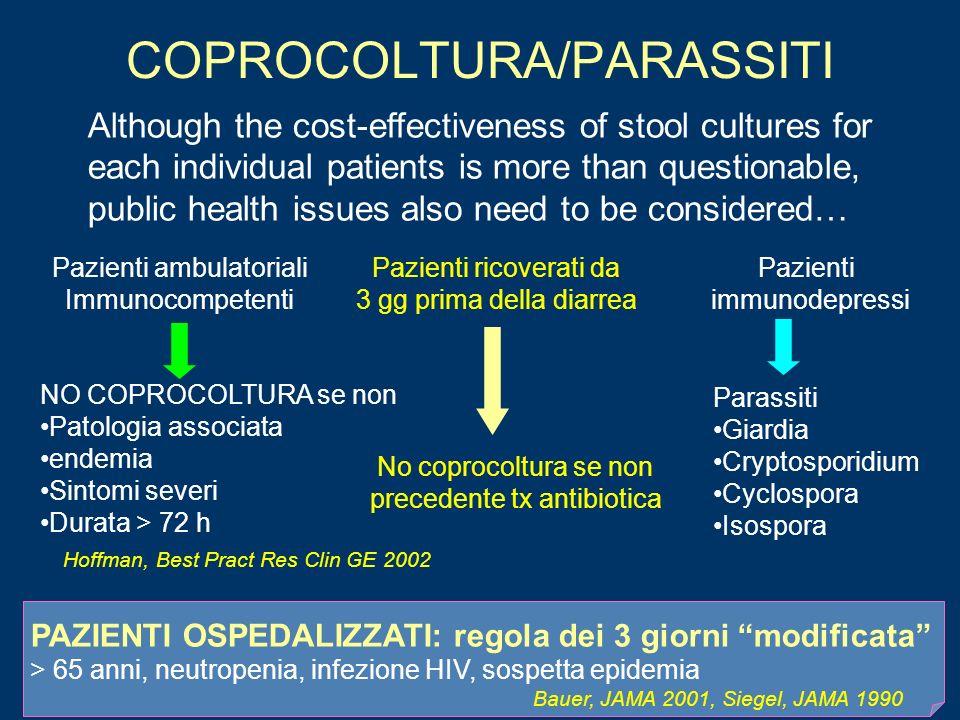 COPROCOLTURA/PARASSITI