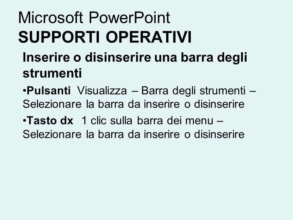 Microsoft PowerPoint SUPPORTI OPERATIVI