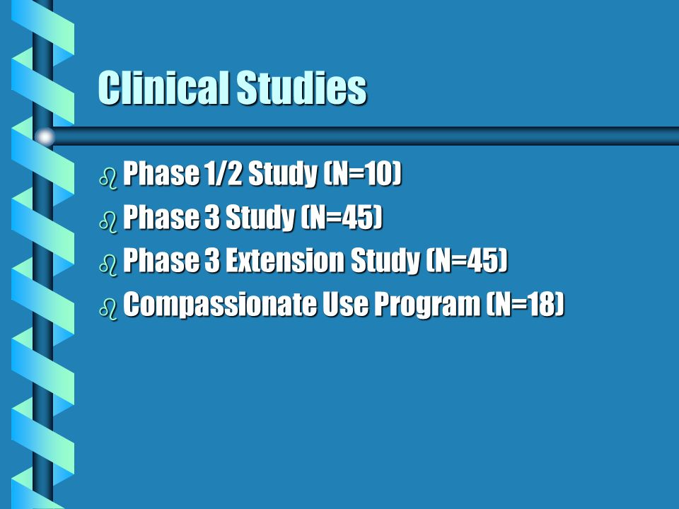 Clinical Studies Phase 1/2 Study (N=10) Phase 3 Study (N=45)