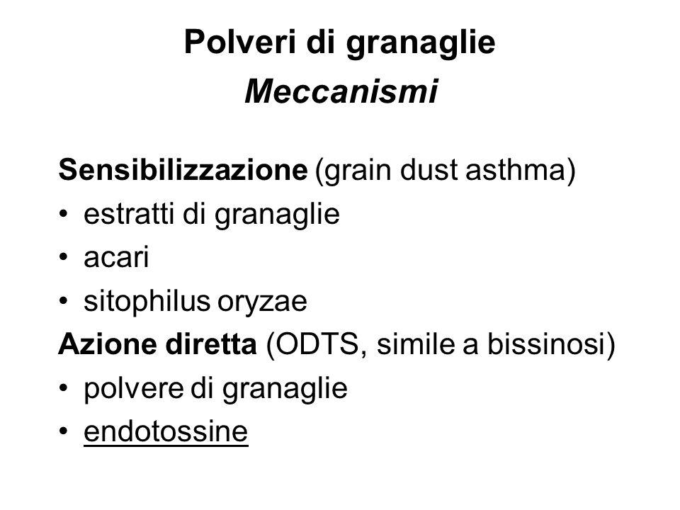 Polveri di granaglie Meccanismi